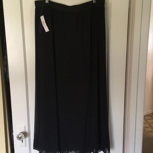 Long Black Lined Skirt